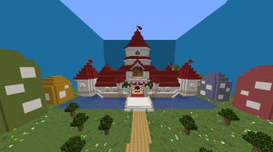 Télécharger Super Mario Peach's Castle pour Minecraft 1.14.3